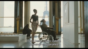 As per-usual with every French film you can see the Eiffel Tower out of the window.